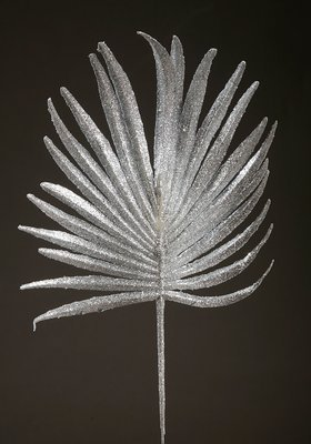 PALM LEAF WITH SILVER GRAY 28 CM