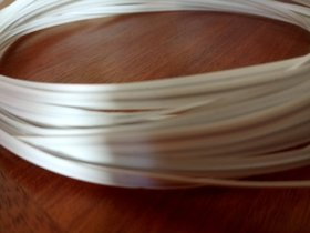 PLASTIC WIRE single-core 4mm -10 m haberdashery wire. White