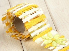 Paper garland 150 cm - yellow-white