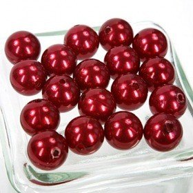 Pearls 18 mm ca. 18 pcs. - cherry red 118p38