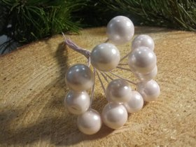 Pearls beads on a wire, lilac bundle 10mm / 10cm, beads price for a bundle of 12 pcs