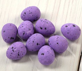 Plover's eggs - Styrofoam ca. 24 pcs/pkg, purple mix, 1,5-2 cm