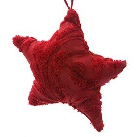 Plush stars, hangers, burgundy, 11 cm  4 pcs / set