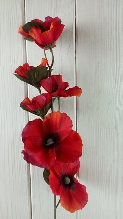 Poppy artificial twig INTENSIVE RED 56 cm 1 pc.