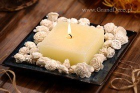 Potpourri Set with candle-White flowers
