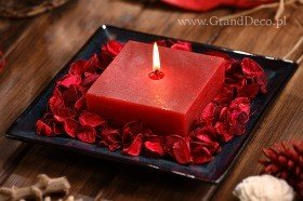 Potpourri set with candle- red