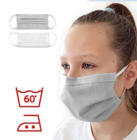 Protective masks gray, pack of 3