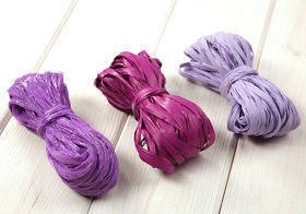 Raffia 3x 15m / W:2cm PURPLE (mix 7)