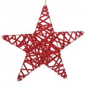 Rattan star red 40 cm