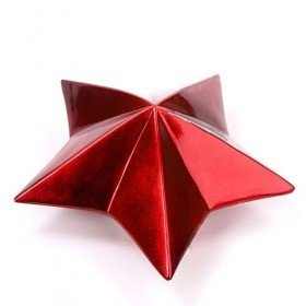 Red ceramis star 22 x 23 x 10 cm