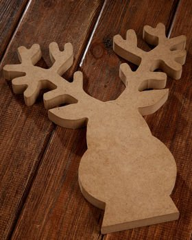 Reindeer wooden Christmas ornament 22/26 cm