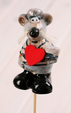 Romantic rat on stick 9/30cm