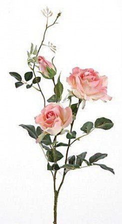 Rose 3 pcs. On a branch - pink