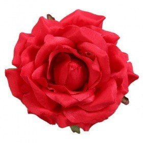 Rose head red 11,5 cm 3 pcs/set