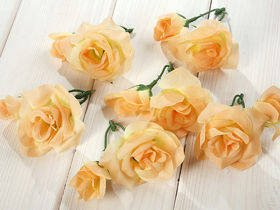 Roses 4-8 cm 12 pcs - light yellow
