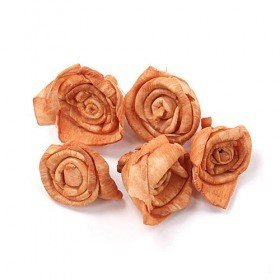 Rossario flowers 2 cm, 24 pcs/pkg - light brown