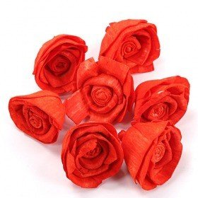 Rossario flowers, 4 cm, 10 pcs/pkg - light red