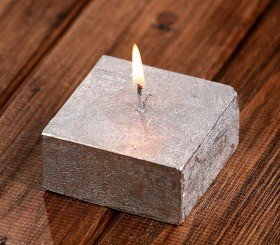 Rustc candle 70/70mm silver