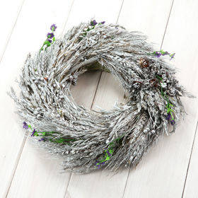 Rustic wreath of grass 30-35 cm