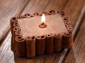Scented rustic candle 6 / 4 / 3 cm