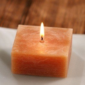 Scented rustic candle  6 cm - brown