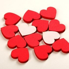 Self-adhesive hearts 2 cm-28 pcs