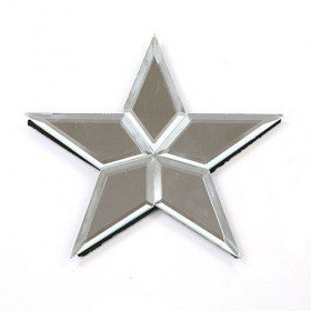 Set of 2 mirror star hanger 16 cm