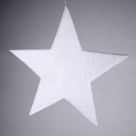 Set of 4 wadding white stars 30 cm