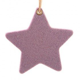Set of 6 felt stars 8 cm