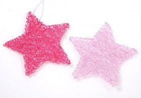 Set of 6 stars 7cm