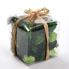 Set of potpourri with candle - green apple and mint