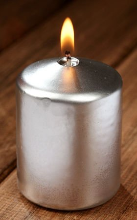 Silver candle 55/80 mm