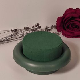 Sponge florist on a white base Sponge wet floristic foam round 8 cm