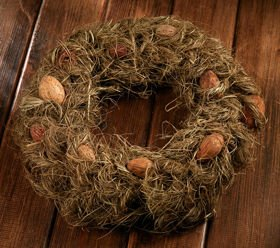Spring wreath eggs in the hay about 25 cm