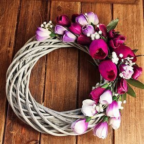 Spring wreath with crocuses, 20 cm
