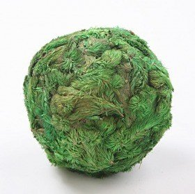 Star Flower balls, 6-7 cm, green