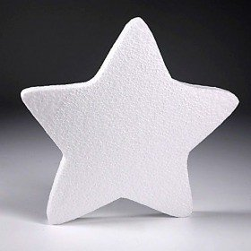Star of polystyrene 30 cm | 300 mm Styrofoam Star