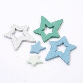Stars 2, 3, 5 cm mix 144 pcs / set