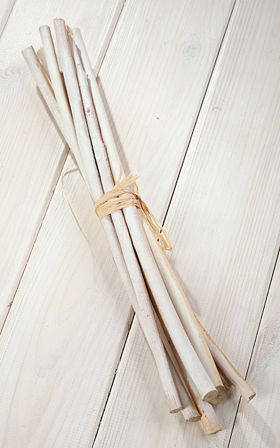 Sticks 35cm 6pcs/pkg in bunch, white