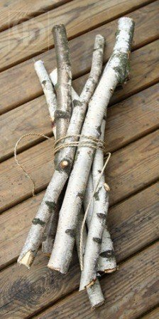 Straight Birch ca.30cm 6pcs/pkg D1-3cm