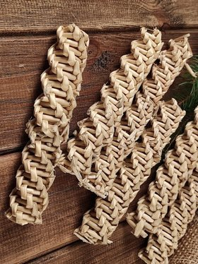 Straw Braid, ca. 15 cm, 6 pcs/pkg,