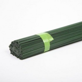 Stub Wire - Green Lacquered diameter 0.8 mm, length 40 cm, weight 2 kg (bundle)