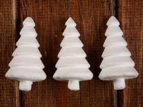 Styrofoam Christmas trees made of Styrofoam. 6 pcs / box 7 cm