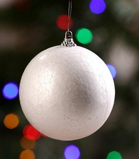 Styrofoam balls with pendant hanging ball diameter 8 cm Christmas balls price for 4 pieces