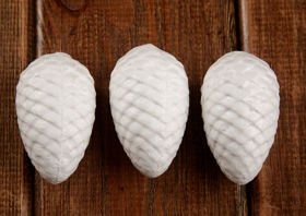 Styrofoam baubles cones. 6 cm The price of Christmas decorations for 6 pieces