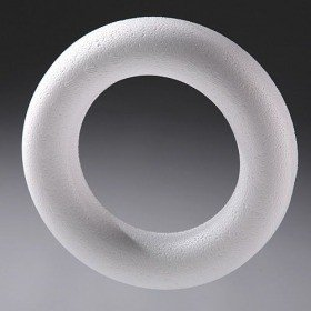 Styrofoam ring / wreath 10 cm. Price per pack of 3 pieces