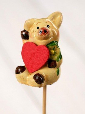Valentine figurine on stick 6/26cm
