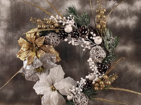 WINTER BLACK 25 cm wreath