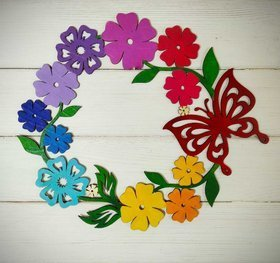 WOODEN FLOWER FOR RAINBOW DOOR 25 cm