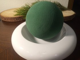 Wet ball in a 25 cm dish